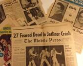 Elvis newspaper clippings