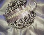 Newborn Baby Girl Silver Pewter Rhinestone Headband