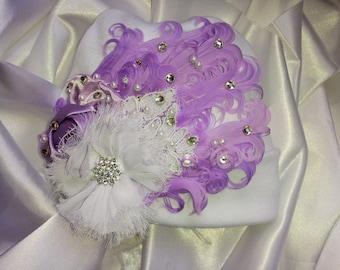 Purple Girls Newborn Baby Hospital Hat Beanie