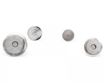 Slim fit magnetic fasteners 19 mm 16 mm surface mounted for handbags purse craft, nickel