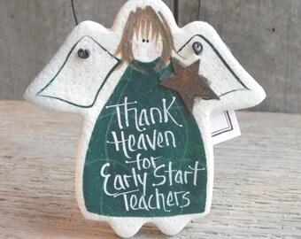 Early Start Teacher Salt Dough Ornament / Teacher Gift / Appreciation / Thank You