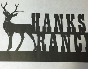 Custom. Personalized Deer,Metal Art,Cabin,Northwoods,Lodge,Wall Decor,Woodsy,Outdoorsy