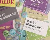 25 buttons and 48 Dare Cards v.2 - Bachelorette Party Pack
