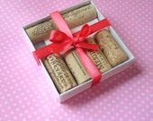 Wine Cork Magnets . Set of 6 . Super Strong . Wine Lover Gift Set