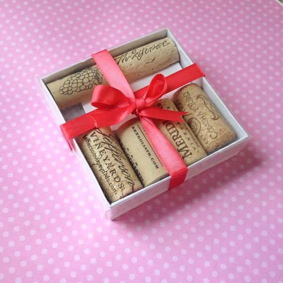 Wine Cork Magnets . Set of 6 . Super Strong . Wine Lover Gift Set