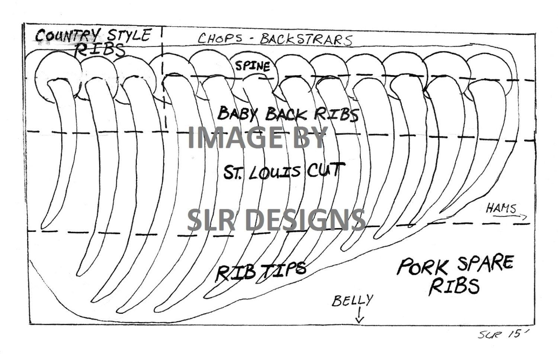 pork ribs diagram