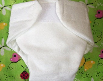 Cloth Doll diaper SIZE #2 ready to ship white washable adjustable fits some Baby alive cabbage patch snackin sara stuffed animals and more