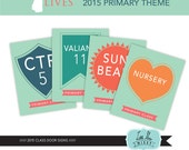2015 Primary Classroom Door Signs, I Know My Savior Lives, Primary 2015, Instant Download Printables
