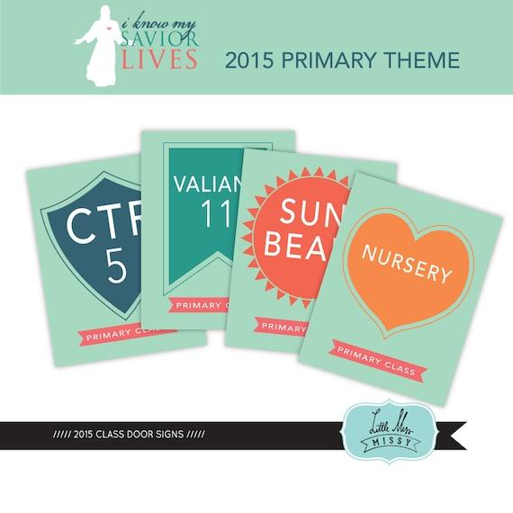 Lds primary classroom door signs just b cause for Idea door primary 2014