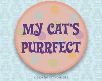 My Cat is Purrfect Sticker.