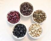6 crimp beads and threader DIY feather extension supplies - Micro beads black, brown, blonde, burgundy auburn or random mix
