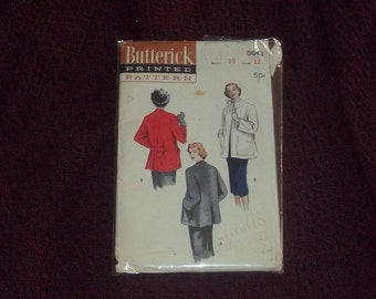 True Vintage 1940's Swing Coat Pattern Uncut Complete Estate Kelly Hepburn Style