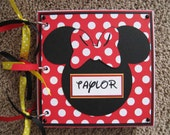 Disney Autograph Book - Minnie Mouse - Chipboard - New Option Available - Clear Acrylic Covers