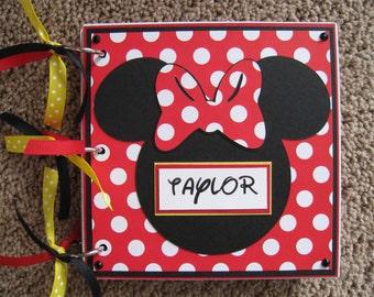 Disney Autograph Book - Minnie Mouse - Chipboard