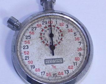 Vintage Herwins Stop Watch, Swiss Made Vintage Stop Watch, Herwins Stop Watch
