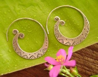 Silver earrings-The Swirl Eyes (3)