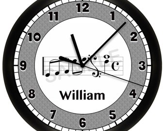 Music Notes Wall Clock Musician Music