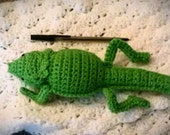 Crocheted Bearded Dragon Plushie in Spring Green