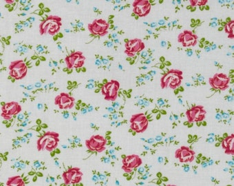 Sugar Hill by Tanya Whelan Scattered Roses in White -  LAMINATED COTTON