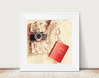 paris photograph paris decor vintage camera photograph paris print travel photography red home decor retro camera print