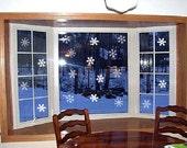 HAPPY HOLIDAYS DECAL Door, Christmas, Seasonal, Vinyl, Decal, monogram, snowflake decal, Family