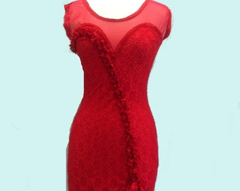 Little Red Dress from Lace