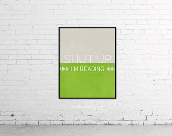 Funny Reader Quote Book Quote Print Poster Book Typography Quote Art Digital Print