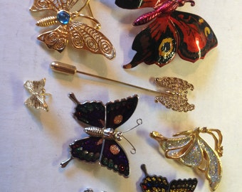 Butterfly Brooches Pins lot 318