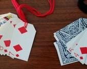 Vintage Playing Card Tags - Set of 13 Diamonds