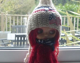"Blythe ""American"" Pixie Hat"