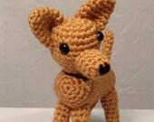 Crocheted Chihuahua - Amigurumi - handmade dog - Chihuahua amigurumi