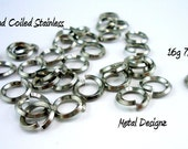 "Diamond Coiled Stainless Steel Jump Rings -16g 7/32""- 100 pack"