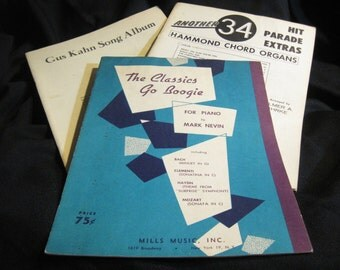 Vintage Sheet Music Books - Classic, Boogie, Tin Pan Alley For Piano/Organ/Vocal