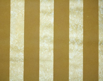 Retro Flock Wallpaper by the Yard 70s Vintage Flock Wallpaper - 1970s Flock Gold Stripe