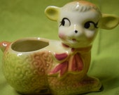 Kitschy Vintage Sheep Planter