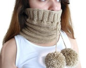 unisex, Camel neckwarmers,Hat, Beanie, autumn, wool, hand-knitted,fashion,gift, valentines day,men, women