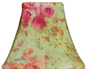 Shabby Chic Rose - Custom Slip Cover for your lampshade - fits perfectly