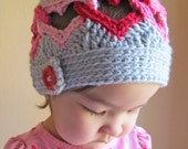 CROCHET PATTERN - Be Mine - a crochet heart hat pattern, linked heart hat (Infant, Baby, Toddler, Child, Adult sizes) - Instant PDF Download