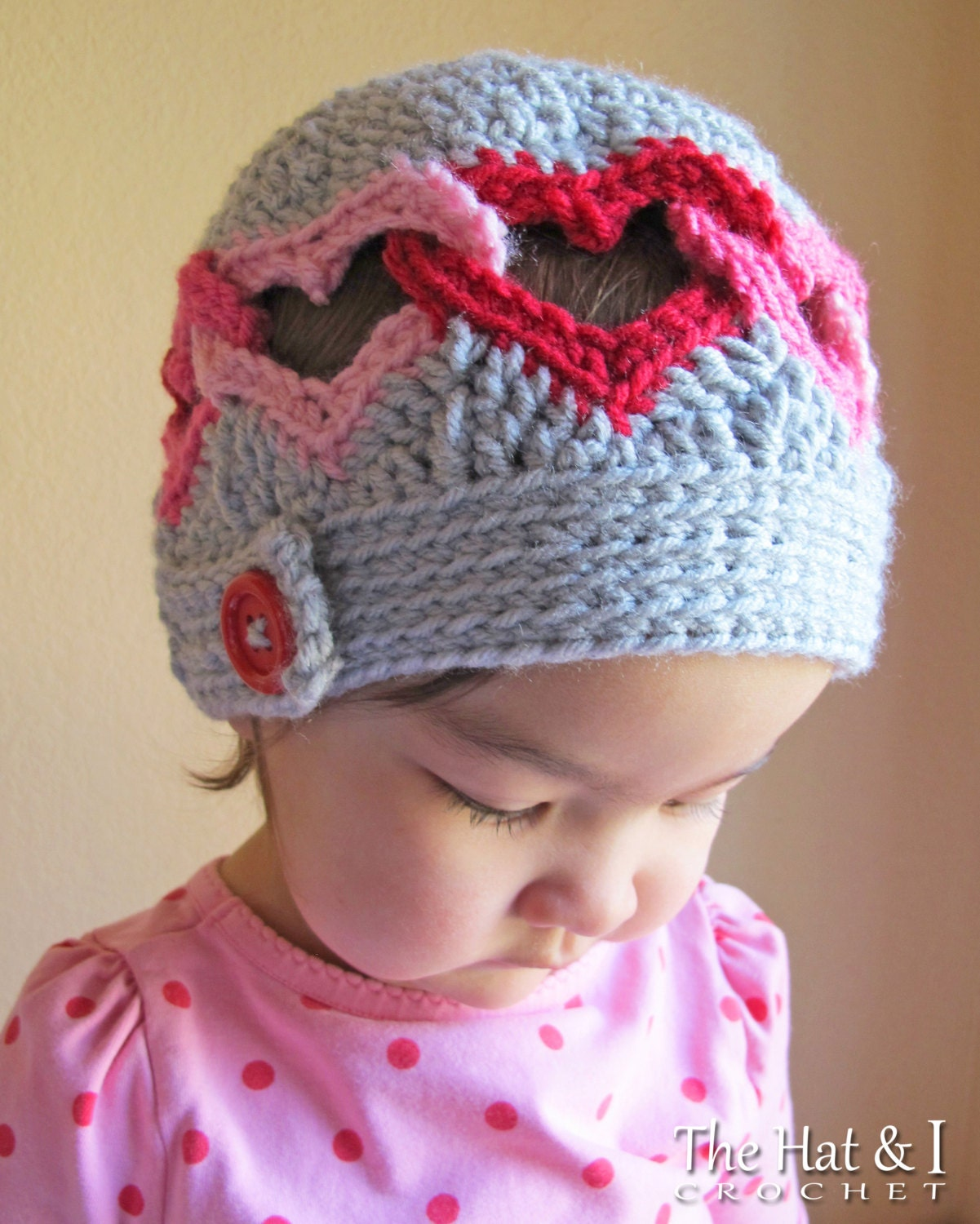 Crochet Pattern For Baby Hat And Scarf : CROCHET PATTERN Be Mine crochet heart hat pattern linked