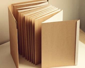 A4 Accordion album // Kraft Scrapbook Album // Wedding Album // Wedding Guest Book