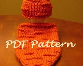 Newborn Carrot Cocoon and Hat - PDF Pattern