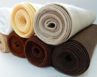 Wool Blend Felt Brown Shades