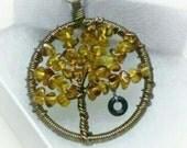 Tire Swing Memories Tree Necklace - Bronze