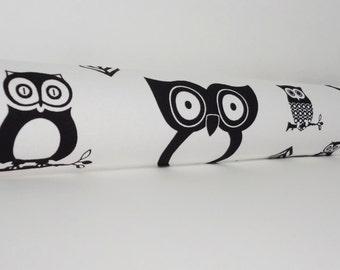 Door Draft Stopper Draft Dodger Door Draft Buster Door Stop Draft Excluder Black White Owl