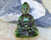 Large Carved Jade Pendant,Charm Green Jade Pendant The Buddha Jade Amulet Talisman Necklace Pendant Jewerly