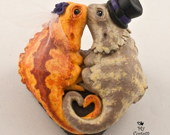 Bearded Dragons Wedding Cake Topper