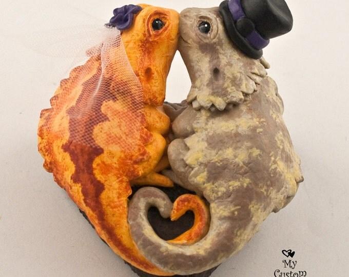 Bearded Dragons Custom Wedding Cake Topper