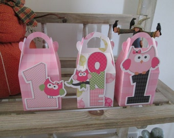 One Year Old Girl Gable Boxes Set of 12