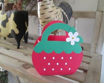 Strawberry Bag Favors set of 10