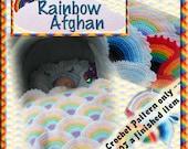 PDF Crochet Pattern Rainbow Baby Afghan
